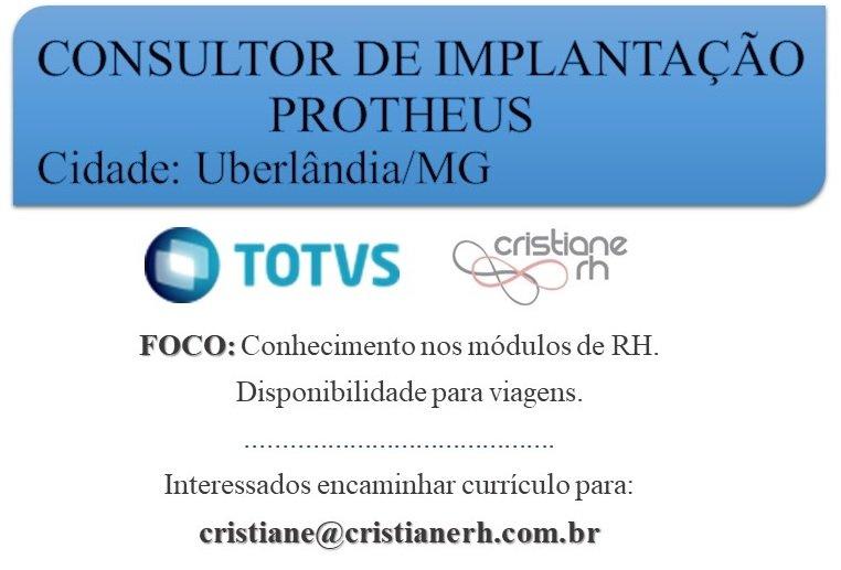 Cristiane RH - Consultor de Implantação PROTHEUS